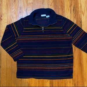 VINTAGE | Rainbow 1/4 Zip Fleece Pullover